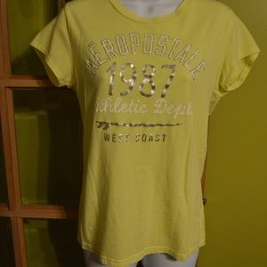 Aeropostale xl tee-yellow